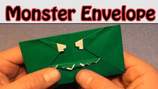 Fold an Origami Monster Envelope! Designed by Jeremy Shafer