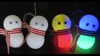 DIY snowman lights - learn how to make an easy snowman decoration - EzyCraft