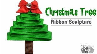 How to Make a Christmas Tree Ribbon Sculpture - TheRibbonRetreat.com